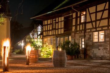 Steinbachhof Aussen bei Nacht