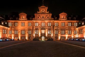 Schloss Ehreshoven von Aussen bei Nacht