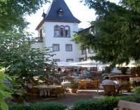 Hotel Kronenschlösschen von Aussen Terrasse