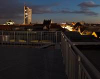 Terrasse im dunkeln Veranstaltungszentrum der Leipziger Foren